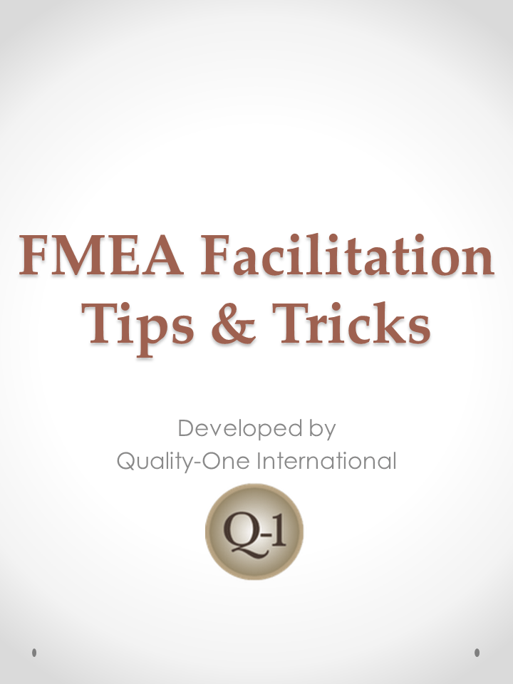 FMEA Facilitation Tips & Tricks